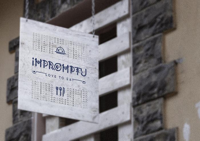 Hanging Wall Sign MockUp